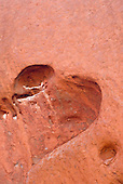 Uluru, Australia. Heart-shaped cavity at Uluru (Ayers Rock).