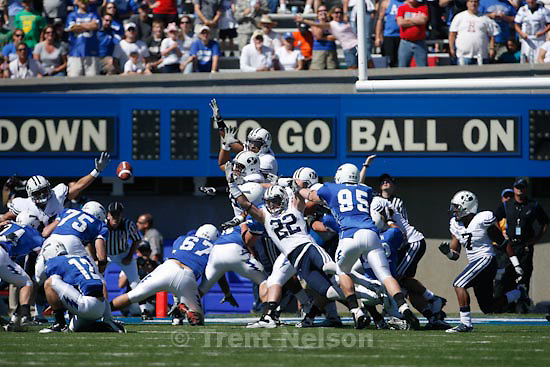 Trent Nelson  |  The Salt Lake Tribune. in the first quarter as BYU faces Air Force at the Air Force Academy, college football Saturday, September 11, 2010.