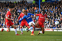 Jamal Lowe of Portsmouth scores the first goal during Portsmouth vs Gillingham, Sky Bet EFL League 1 Football at Fratton Park on 10th March 2018