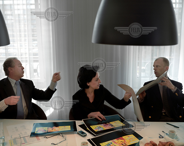 Nelly Wenger, managing director of Nestle Switzerland, in a meeting to discuss the company's advertising campaign.
