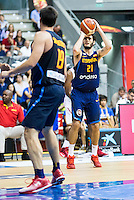 Spain's basketball player Alex Abrines during the first match of the preparation for the Rio Olympic Game at Coliseum Burgos. July 12, 2016. (ALTERPHOTOS/BorjaB.Hojas)