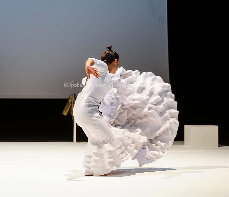 London, UK. 12.10.2017. Fallen from Heaven (Caída del Cielo), choreographed & performed by Rocio Molina, is at the Barbican 12-14 October as part of Dance Umbrella Festival 2017. Picture shows: Rocio Molina. Photo - © Foteini Christofilopoulou.