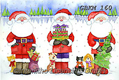 Kate, CHRISTMAS SANTA, SNOWMAN, WEIHNACHTSMÄNNER, SCHNEEMÄNNER, PAPÁ NOEL, MUÑECOS DE NIEVE, paintings+++++Christmas page 49,GBKM160,#x#