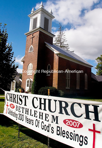 BETHLEHEM, CT- 16 SEPT 2007- 091607JT01- <br /> Christ Episcopal Church in Bethlehem is celebrating its 200th anniversary.<br /> Josalee Thrift / Republican-American