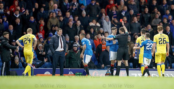Rob Kiernan sent off
