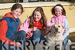Katie, Aine and Rachel OConnor, Currans, at the Tralee and District Dog Show in Currow Community Centre last Sunday..