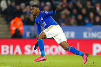 4th March 2020; King Power Stadium, Leicester, Midlands, England; English FA Cup Football, Leicester City versus Birmingham City; Kelechi Iheanacho of Leicester City watches his disallowed goal go into the net