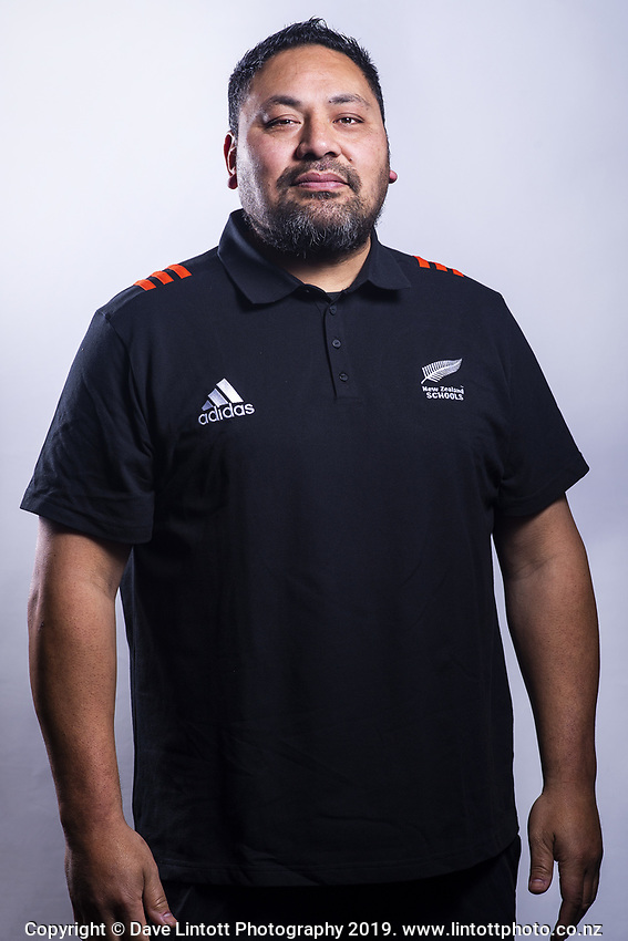Campaign support Ezra Iupeli. 2019 New Zealand Schools rugby union headshots at the Sport & Rugby Institute in Palmerston North, New Zealand on Wednesday, 25 September 2019. Photo: Dave Lintott / lintottphoto.co.nz