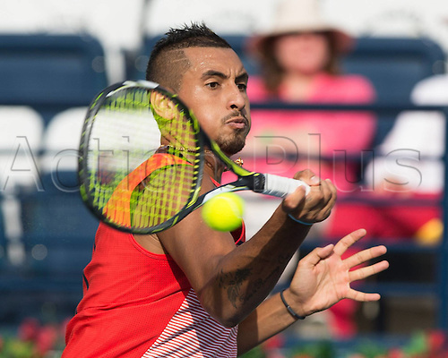 25.02.2016. Dubai, UAE.  Nick Kyrgios(AUS) ATP Dubai Duty Free Tennis Championships, Dubai United Arab Emirates - 25 February 2016. Kyrgios beat Berdych 6-4, 6-4 to enter th semi-finals.