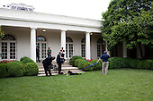 """Washington, DC - May 29, 2009 -- NBC video and sound crews capture footage of the """"First Dog"""" in the Rose Garden outside the Oval Office for their prime-time broadcast """"Inside the Obama White House,"""" May 29, 2009..Mandatory Credit: Samantha Appleton - White House via CNP"""