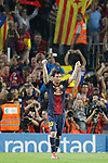 Barcelona's Lionel Messi goal during la Liga match on october 7th 2012. ..Photo: Cesar Cebola  / ALFAQUI