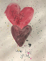 """""""You be you.... Be yourseself"""".  Drawing by Meredith Moore Grade 3, Yarmouth ME, USA"""