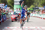 Julian Alaphilippe (FRA) Quick-Step Floors wins Stage 8 of the 2017 La Vuelta, running 199.5km from Hell&iacute;n to Xorret de Cat&iacute;. Costa Blanca Interior, Spain. 26th August 2017.<br /> Picture: Unipublic/&copy;photogomezsport | Cyclefile<br /> <br /> <br /> All photos usage must carry mandatory copyright credit (&copy; Cyclefile | Unipublic/&copy;photogomezsport)