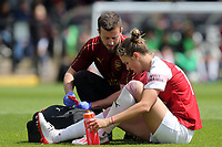 Vivianne Miedema of Arsenal Women is treated for an injury during Arsenal Women vs Manchester City Women, FA Women's Super League Football at Meadow Park on 11th May 2019