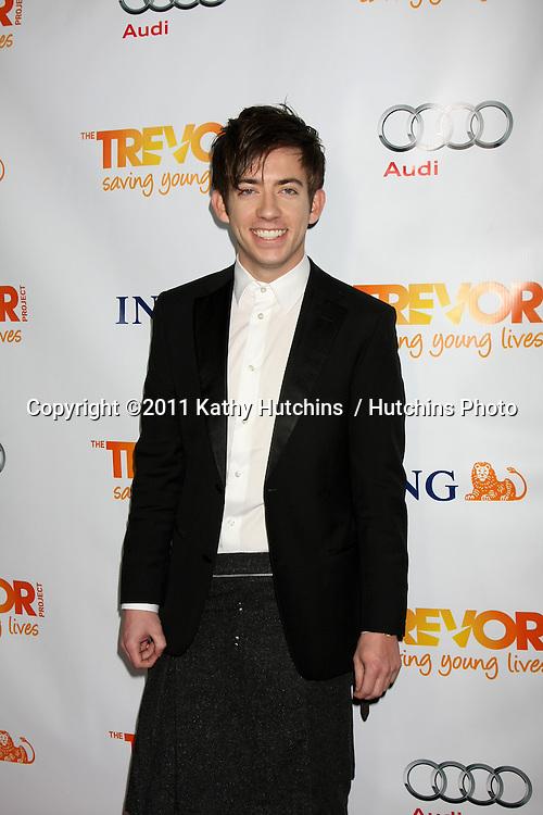 "LOS ANGELES - DEC 4:  Kevin McHale arrives at ""The Trevor Project's 2011 Trevor Live!"" at Hollywood Palladium on December 4, 2011 in Los Angeles, CA"