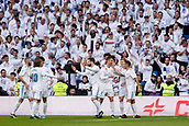 9th December 2017, Santiago Bernabeu, Madrid, Spain; La Liga football, Real Madrid versus Sevilla; Toni Kroos of Real Madrid celebrates the (4,0) after scoring his sides goal