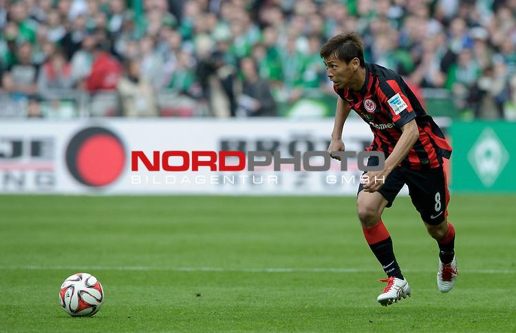 02.05.2015, Weserstadion, Bremen, GER, 1.FBL, Werder Bremen vs Eintracht Frankfurt, im Bild Takashi Inui (Frankfurt #8)<br /> <br /> Foto &copy; nordphoto / Frisch