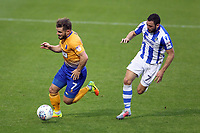 Alex MacDonald of Mansfield Town gets the better of Drey Wright of Colchester United during Colchester United vs Mansfield Town, Sky Bet EFL League 2 Football at the Weston Homes Community Stadium on 7th October 2017