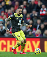 1st February 2020; Anfield, Liverpool, Merseyside, England; English Premier League Football, Liverpool versus Southampton; Danny Ings of Southampton runs with the ball as Southampton attack