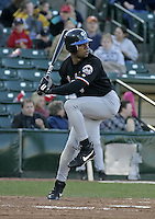 May 28, 2004:  Gerald Williams of the Norfolk Tides, Triple-A International League affiliate of the New York Mets, during a game at Frontier Field in Rochester, NY.  Photo by:  Mike Janes/Four Seam Images