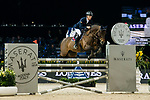 Max Kuhner of Austria riding Clelito Lindo 2 competes in the Maserati Masters Power during the Longines Masters of Hong Kong at AsiaWorld-Expo on 10 February 2018, in Hong Kong, Hong Kong. Photo by Diego Gonzalez / Power Sport Images