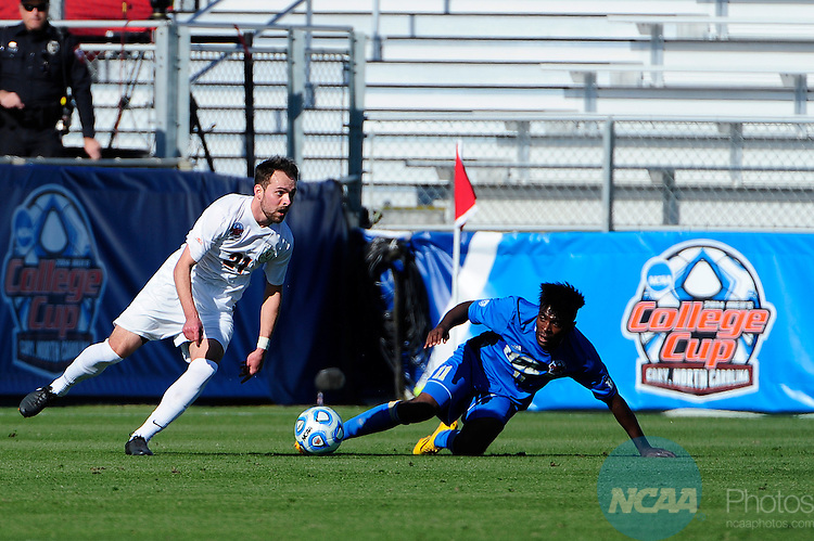 14 DEC 2014: The University of Virginia takes on UCLA during the Division I Men's Soccer Championship held at WakeMed Soccer Park in Cary, NC. UCLA defeated Virginia 2-1 for the national title.  Jeffrey A. Camarati/NCAA Photos