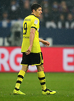 FUSSBALL   1. BUNDESLIGA   SAISON 2012/2013    25. SPIELTAG FC Schalke 04 - Borussia Dortmund                         09.03.2013 Robert Lewandowski (Borussia Dortmund) ist enttaeuscht
