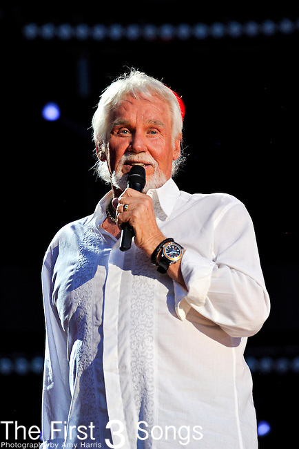 Kenny Rogers performs at LP Field during the 2012 CMA Music Festival on June 09, 2012 in Nashville, Tennessee.
