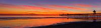 San Clemente Pier at Sunset Panorama
