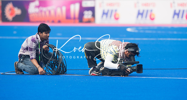 BHUBANESWAR  (INDIA) -   Cameraman. Argentina vs Germany on day 3 of the Hero Champions Trophy Hockey.   Photo KOEN SUYK