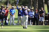 Jason Dufner (USA) on the 2nd tee during Round 1 of the ISPS HANDA Perth International at the Lake Karrinyup Country Club on Thursday 23rd October 2014.<br /> Picture:  Thos Caffrey / www.golffile.ie