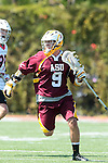 Orange, CA 05/02/10 - Robert Bocchicchio (ASU # 9) in action during the Chapman-Arizona State MCLA SLC Division I final at Wilson Field on Chapman University's campus.  Arizona State defeated Chapman 13-12 in overtime.