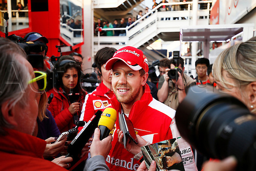 28.02.2015. Barcelona, Spain. F1 winter testing at Circuit de Barcelona.  Motorsports: FIA Formula One World Championship 2015, Test in Barcelona,  <br /> #5 Sebastian Vettel (GER, Scuderia Ferrari),
