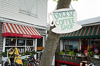 Dock Street Coffee Shop is located on Dock Street in Edgartown, Martha's Vineyard, Massachusetts, USA.