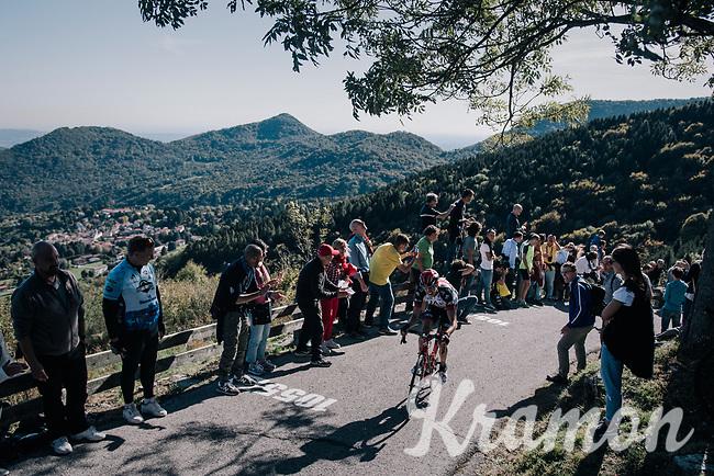 up the infamous Muro di Sormano (avg 17%/max 25%)<br /> <br /> Il Lombardia 2017<br /> Bergamo to Como (ITA) 247km