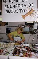 Europe/Espagne/Baléares/Minorque/Mahon : Le marché aux poissons