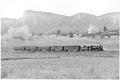 #476 with RPO, baggage car, 2 closed vestibule coaches and observation car.<br /> D&amp;RGW  Durango - North, CO  Taken by Richardson, Robert W. - 9/16/1948