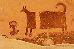 Temple Mountain Wash pictograph panel, Fremont culture...San Rafael Reef, Utah.