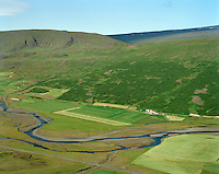 Birkihlíð séð til vesturs, Fljótsdalshérað áður Skriðdalshreppur / Birkihlid viewing west, Fljotsdalsherad former Skriddalshreppur