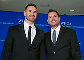 Matt Collum, left, and singer Ty Herndon arrive for the 2018 White House Correspondents Association Annual Dinner at the Washington Hilton Hotel on Saturday, April 28, 2018.<br /> Credit: Ron Sachs / CNP<br /> <br /> (RESTRICTION: NO New York or New Jersey Newspapers or newspapers within a 75 mile radius of New York City)
