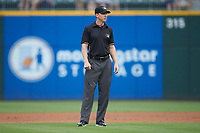 Third base umpire Alex Tosi during the International League game between the Pawtucket Red Sox and the Charlotte Knights at BB&T BallPark on July 19, 2018 in Charlotte, North Carolina. The Knights defeated the Red Sox 4-3.  (Brian Westerholt/Four Seam Images)