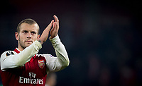 Jack Wilshere of Arsenal applauds the support at full time during the UEFA Europa League group stage match between Arsenal and FC Red Star Belgrade at the Emirates Stadium, London, England on 2 November 2017. Photo by PRiME Media Images.