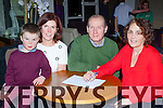 Masterminds l-r: Luke and Siobhain O'Shea, Tim and Audrey O'Leary supplying the answers at the Monastry NS table quiz in the Killarney Oaks Hotel on Saturday night