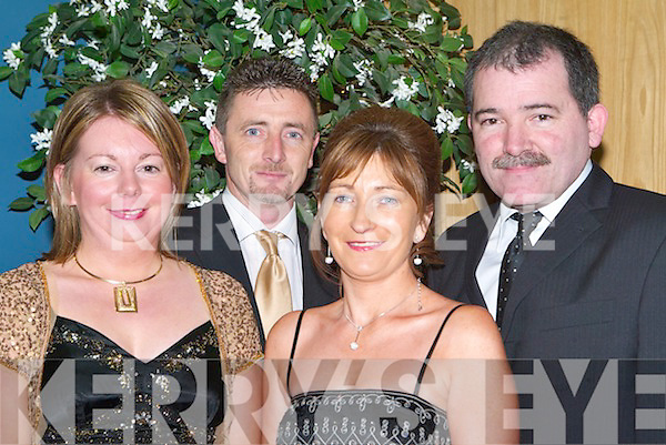 HURLING SOCIAL: Having a great night at the Lixnaw annual social in the Ballyroe Heights Hotel, Tralee, on Friday night were l-r: Noreen and Joe Flaherty, Stephen and Christina Buckley.   Copyright Kerry's Eye 2008