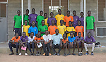 Students and faculty of the De La Salle Brothers Secondary School, temporarily located in the Loreto School in Rumbek, South Sudan.