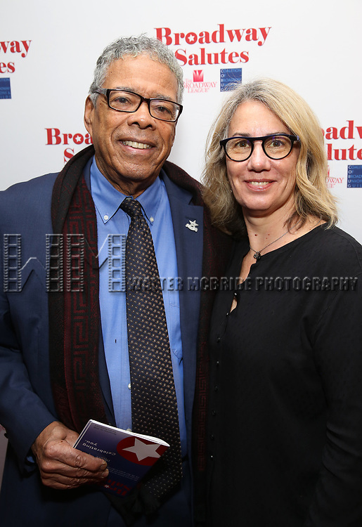 Charles Turner and Laura Penn attends Broadway Salutes 10 Years - 2009-2018 at Sardi's on November 13, 2018 in New York City.