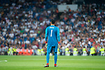 Real Madrid Keylor Navas during Santiago Bernabeu Trophy match at Santiago Bernabeu Stadium in Madrid, Spain. August 11, 2018. (ALTERPHOTOS/Borja B.Hojas)