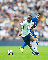 Tottenham's Victor Wanyama and Chelsea's Alvaro Morata during the Premier League match between Tottenham Hotspur and Chelsea at Wembley Stadium, London, England on 20 August 2017. Photo by Andrew Aleksiejczuk / PRiME Media Images.