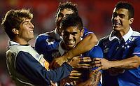SAO PAULO SP, 20 Julho 2013 - Sao Paulo  X Cruzeiro.   Luan comemoa gol  durante partida valida pelo campeonato brasileiro de 2013  no Estadio do Morumbi em  Sao Paulo, neste sabado, 20. (FOTO: ALAN MORICI / BRAZIL PHOTO PRESS).