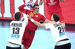 13.01.2018., Croatia, Arena Zagreb, Zagreb - European Handball Championship, Group C, Round 1, Germany - Montenegro.  VUJOVIC Stevan <br /> <br /> Foto &copy; nordphoto / Sanjin Strukic/PIXSELL